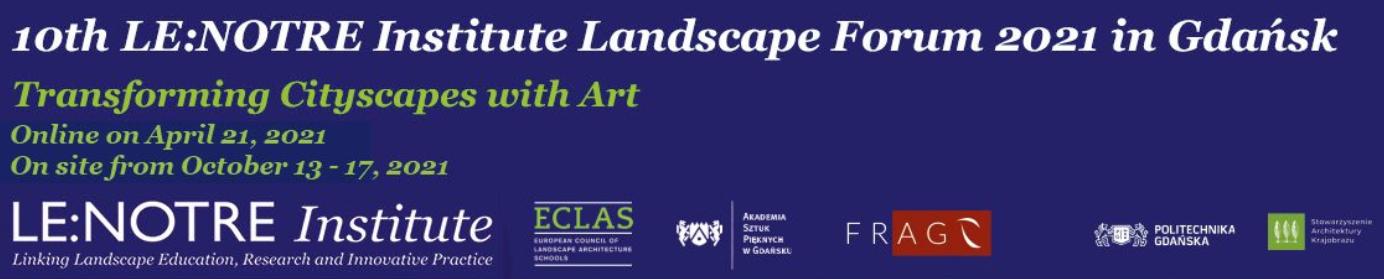 ECLAS Landscape Forum Gdańsk 2021 - Online Kick-Off Event 21 April 2021!