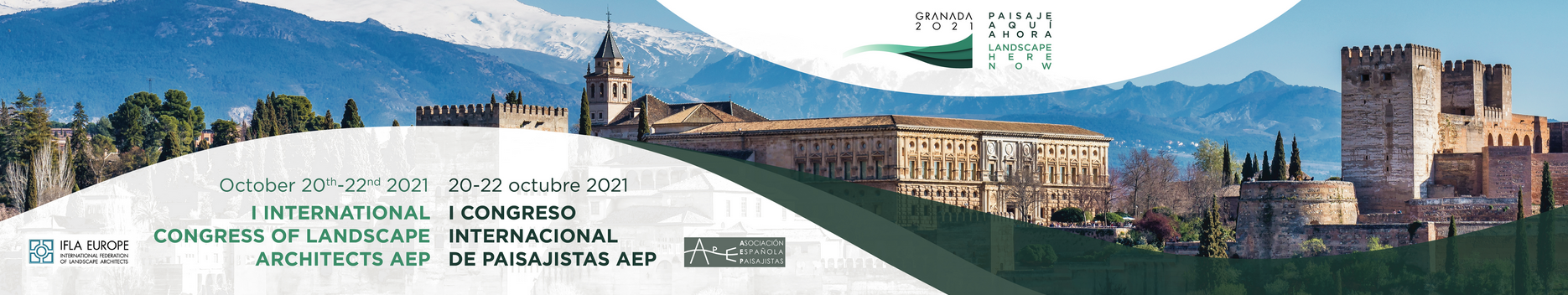 "1st International Congress of Landscape Architects AEP - ""Landscape Here and Now"" 20-22 October 2021 - Call for Abstracts! - deadline 1 May 2021!"