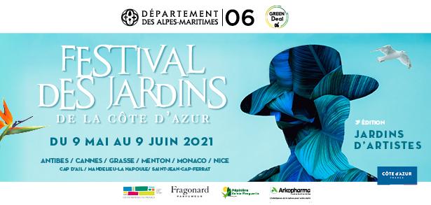 """Festival des Jardins de la Côte d'Azur """"Artists' Garden""""- 9 May to 9 June 2021"""