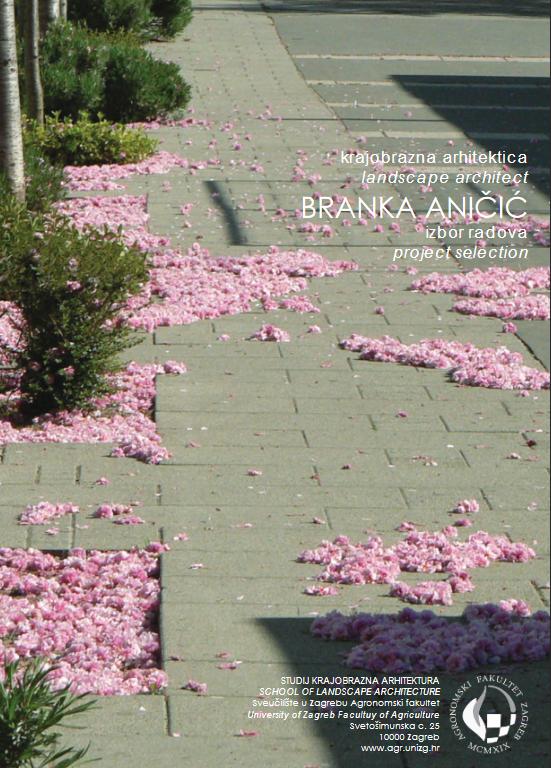 Booklet on selected works by Landscape Architect BRANKA ANIČIĆ