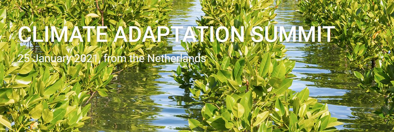 "Climate Adaptation Summit online 25 january 2021 ""Action 