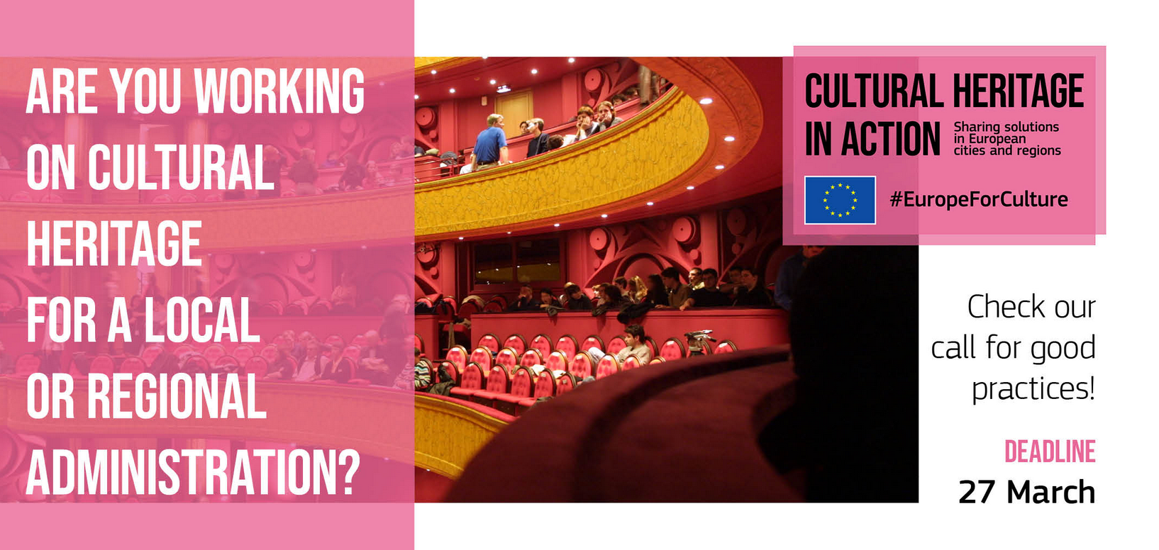 Cultural Heritage in Action programme launched: Submit your good practices from EU cities, regions, urban, non-urban and rural areas