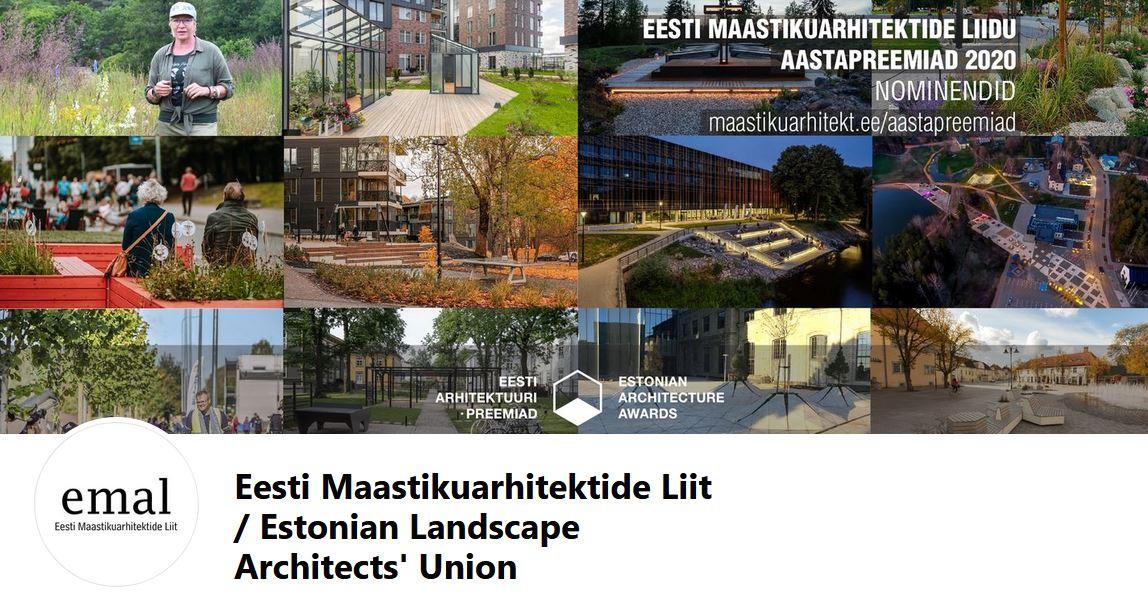 ELAU Estonia: Nominees for the 2020 Annual Awards of the Estonian Landscape Architects Union