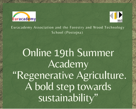 """EURACADEMY Online 19th Summer Academy """"Regenerative Agriculture. A bold step towards  sustainability"""" 7-9 September 2021"""