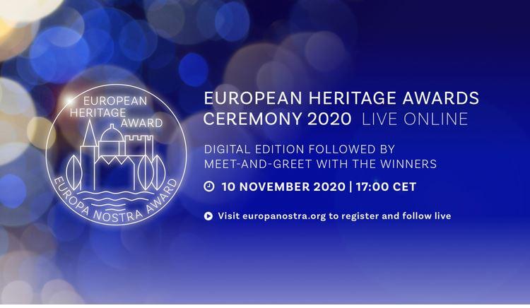 European Heritage Awards Ceremony 2020 on 10 November 2020
