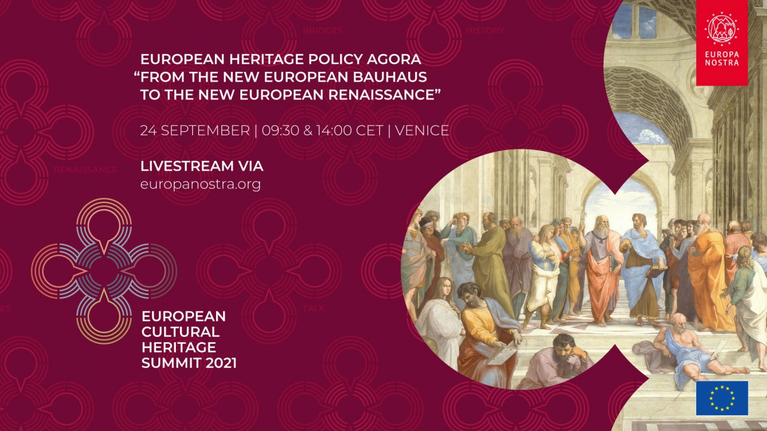 """European Heritage Policy Agora """"From the New European Bauhaus to the New European Renaissance"""" taking place today!"""