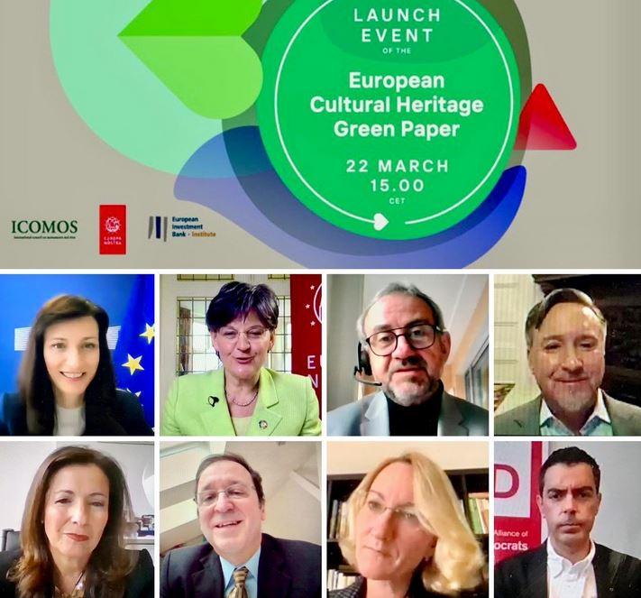 Cultural Heritage Green Paper launch - Message from Sneška Quaedvlieg-Mihailovic, Europa Nostra Secretary General