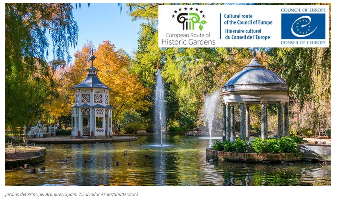 """Council of Europe Cultural Routes - European Route of Historic Gardens certified """"Cultural Route of the Council of Europe"""""""