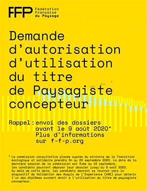 France - How to apply for an authorisation to use the title of Landscape designer! Deadline for submitting applications 9 August 2020!