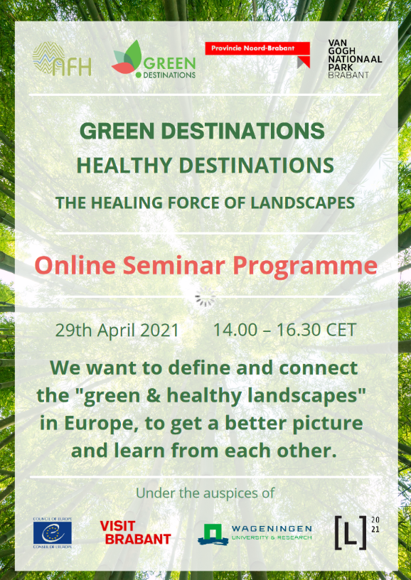 """""""The Healing Force of Landscape"""" - Online Seminar on Green & Healthy Destinations in Europe"""