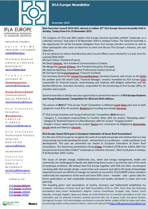 IFLA Europe Newsletter December 2019