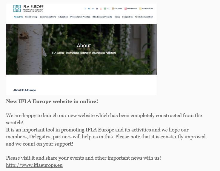 IFLA Europe January - February 2020 Newsletter