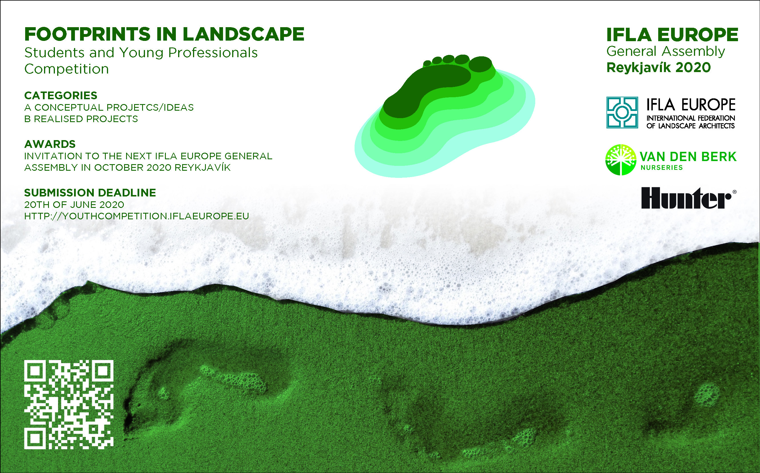 "IFLA Europe launches its 2020 Student and Young Professionals Competition ""Footprints in Landscape"""