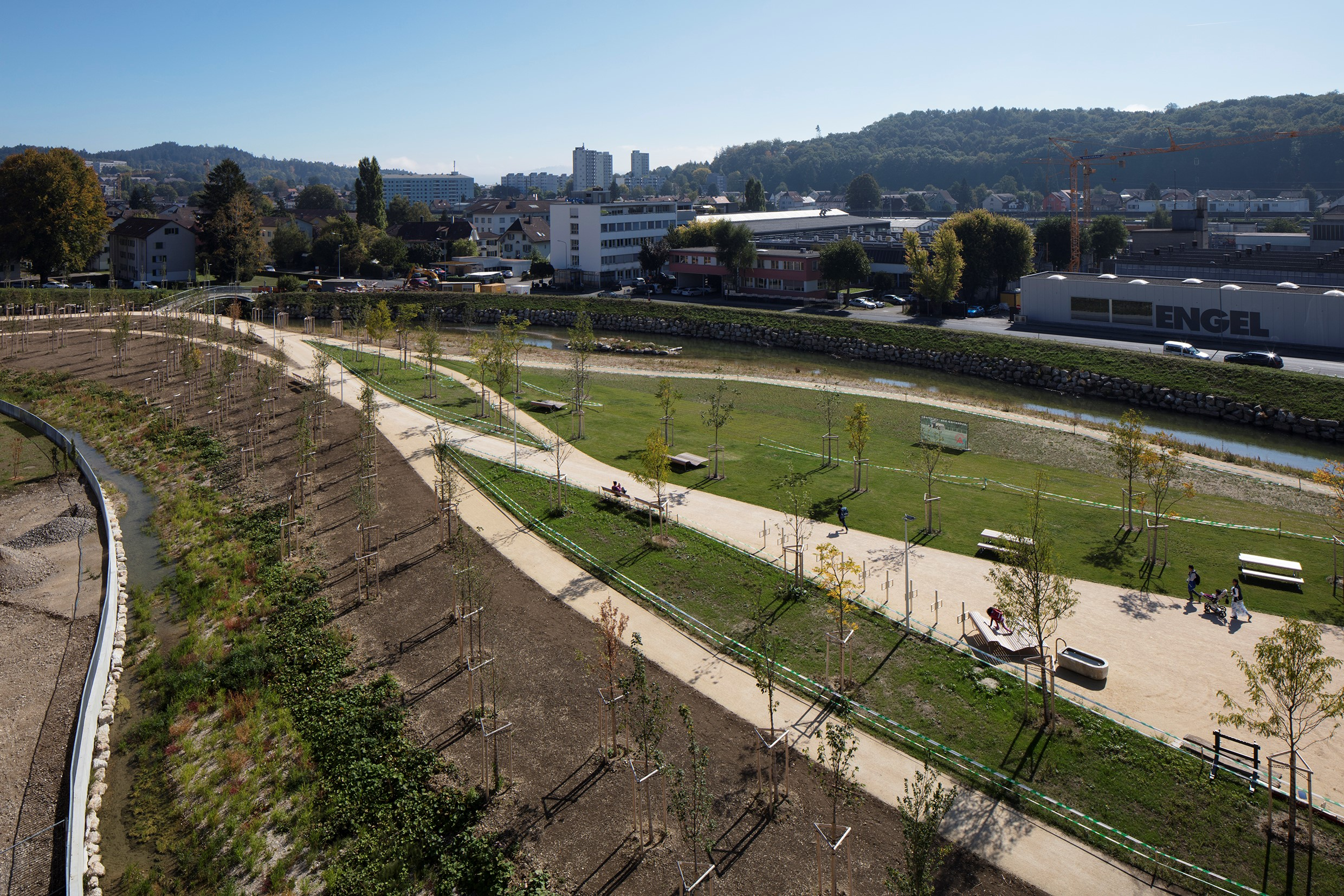 """IFLA Europe Exhibition """"Landscape as a Common Ground"""" continues - we present project from Switzerland entitled: """"Schüssinsel Park""""!"""